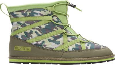 Pakems Kids Extreme Boot Green Camo - Kids Size 4 - Pakems Travel Comfort and Health