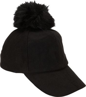 Magid PomPom Baseball Cap Black - Magid Hats/Gloves/Scarves 10392629