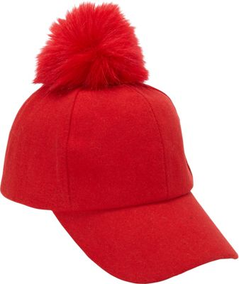 Magid PomPom Baseball Cap One Size - Red - Magid Hats/Gloves/Scarves 10392631