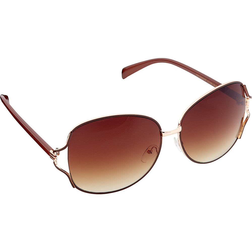 Circus by Sam Edelman Sunglasses Oversized Oval Sunglasses Gold Brown Circus by Sam Edelman Sunglasses Sunglasses