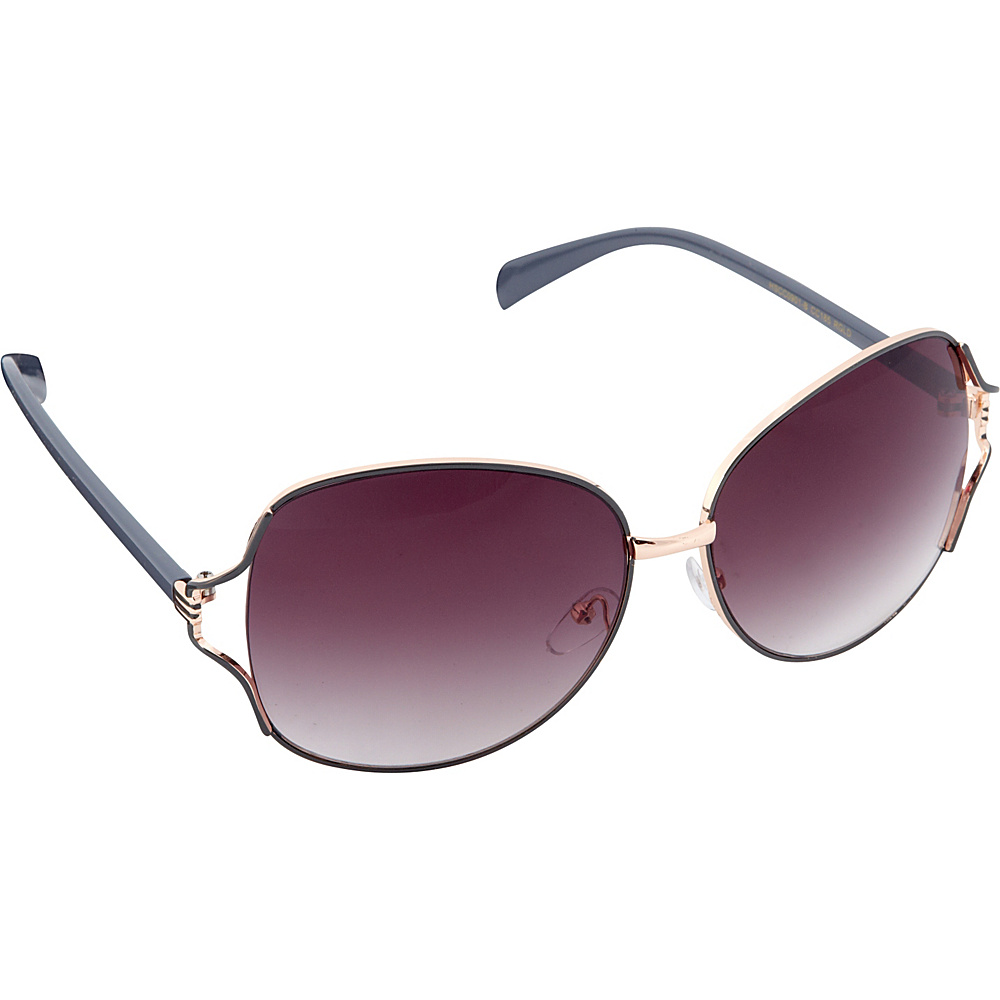 Circus by Sam Edelman Sunglasses Oversized Oval Sunglasses Rose Gold Grey Circus by Sam Edelman Sunglasses Sunglasses