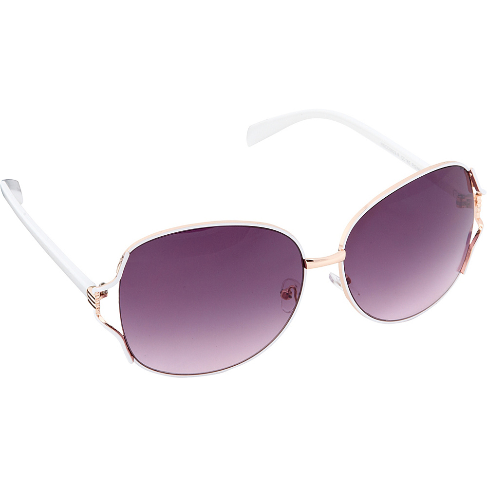 Circus by Sam Edelman Sunglasses Oversized Oval Sunglasses Rose Gold White Circus by Sam Edelman Sunglasses Sunglasses
