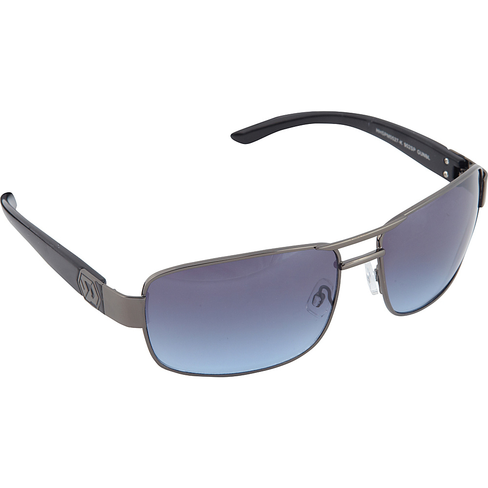SouthPole Eyewear Metal Rectangle Sunglasses Gun Blue SouthPole Eyewear Sunglasses