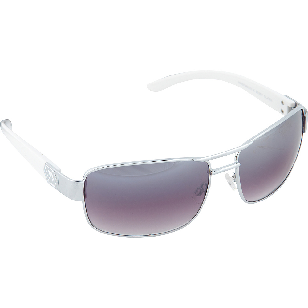 SouthPole Eyewear Metal Rectangle Sunglasses Silver White SouthPole Eyewear Sunglasses