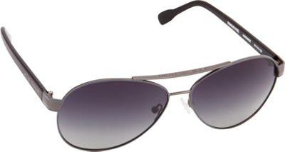 Elie Tahari Sunglasses Polarized Aviator Sunglasses Gunmetal/Grey - Elie Tahari Sunglasses Eyewear