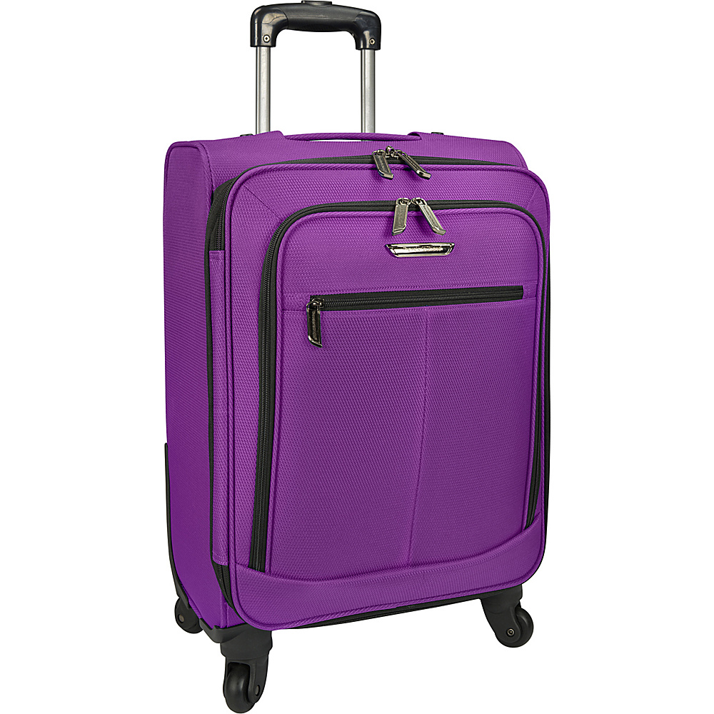 Traveler s Choice Merced Lightweight 22 Spinner Luggage Purple Traveler s Choice Softside Carry On