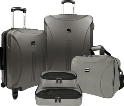 U.S. Traveler U.S. Traveler Skyscraper 5-Piece Hardside Spinner Luggage Set Iron Grey - U.S. Traveler Luggage Sets
