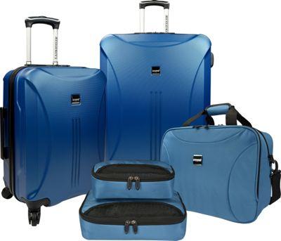 U.S. Traveler Skyscraper 5-Piece Hardside Spinner Luggage Set Steel Blue - U.S. Traveler Luggage Sets
