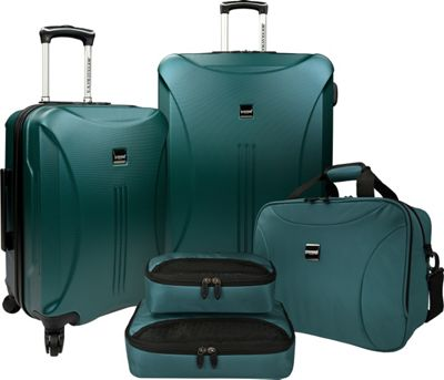 U.S. Traveler Skyscraper 5-Piece Hardside Spinner Luggage Set Torquoise - U.S. Traveler Luggage Sets