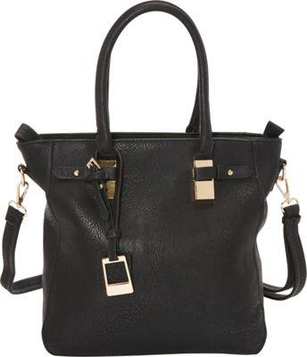 SW Global Fleda Tote Bag Black - SW Global Manmade Handbags