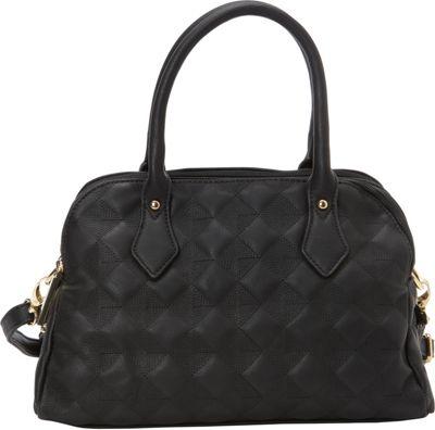 Image of 1969 V Italia Fortuna Satchel Black - 1969 V Italia Manmade Handbags