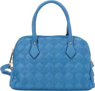 Image of 1969 V Italia Fortuna Satchel Blueberry - 1969 V Italia Manmade Handbags
