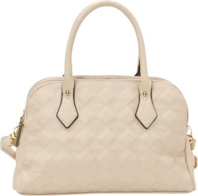 Image of 1969 V Italia Fortuna Satchel Beige - 1969 V Italia Manmade Handbags