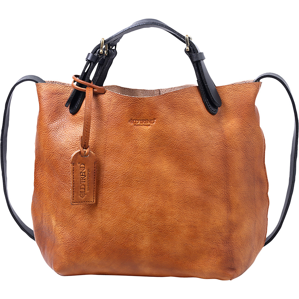 Old Trend Mini Tote Chestnut Old Trend Leather Handbags