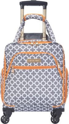 Jenni Chan Aria Broadway 15 inch Spinner Underseat Tote - eBags EXCLUSIVE Grey - Jenni Chan Softside Carry-On