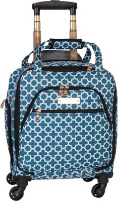 Jenni Chan Aria Broadway 15 inch Spinner Underseat Tote - eBags EXCLUSIVE Green/Teal - Jenni Chan Softside Carry-On