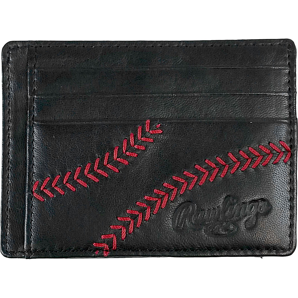 Rawlings Baseball Stitch Card Case Black Rawlings Men s Wallets