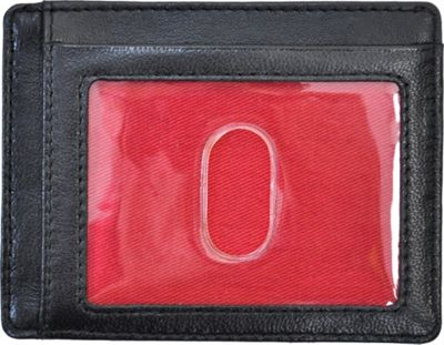 Rawlings Baseball Stitch Card Case Black - Rawlings Men's Wallets