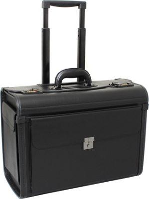 World Traveler Deluxe Rolling Sample Catalog Pilot Case Black - World Traveler Wheeled Business Cases