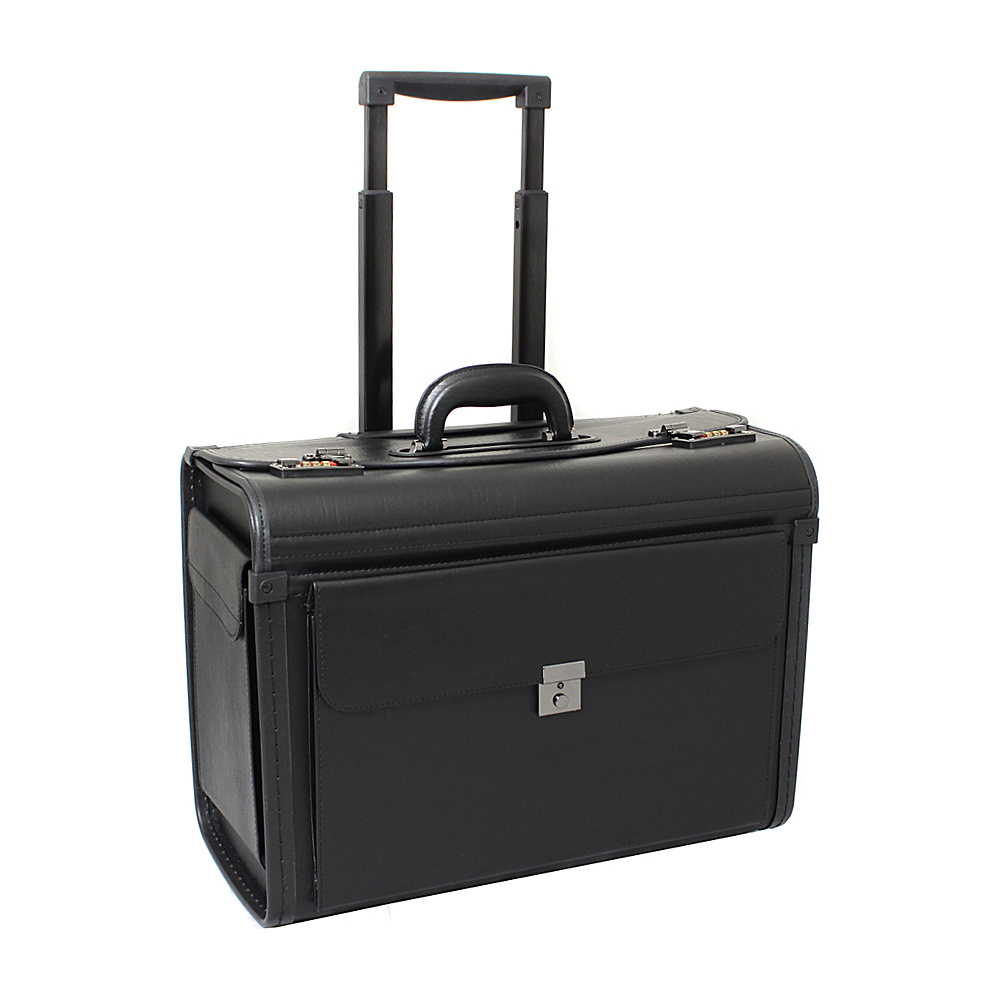 World Traveler Deluxe Rolling Sample Catalog Pilot Case Black World Traveler Wheeled Business Cases