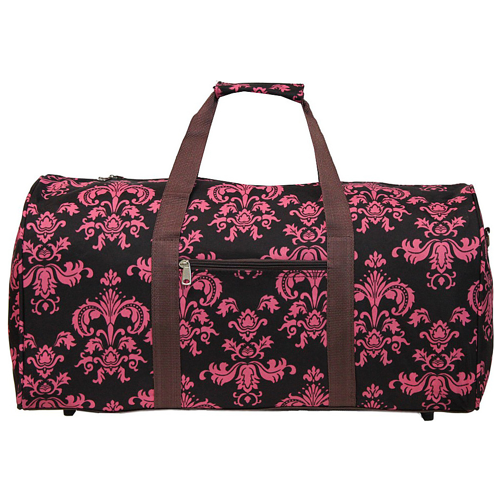 World Traveler Damask ll 22 Lightweight Duffle Bag Brown Pink Damask ll - World Traveler Rolling Duffels - Luggage, Rolling Duffels