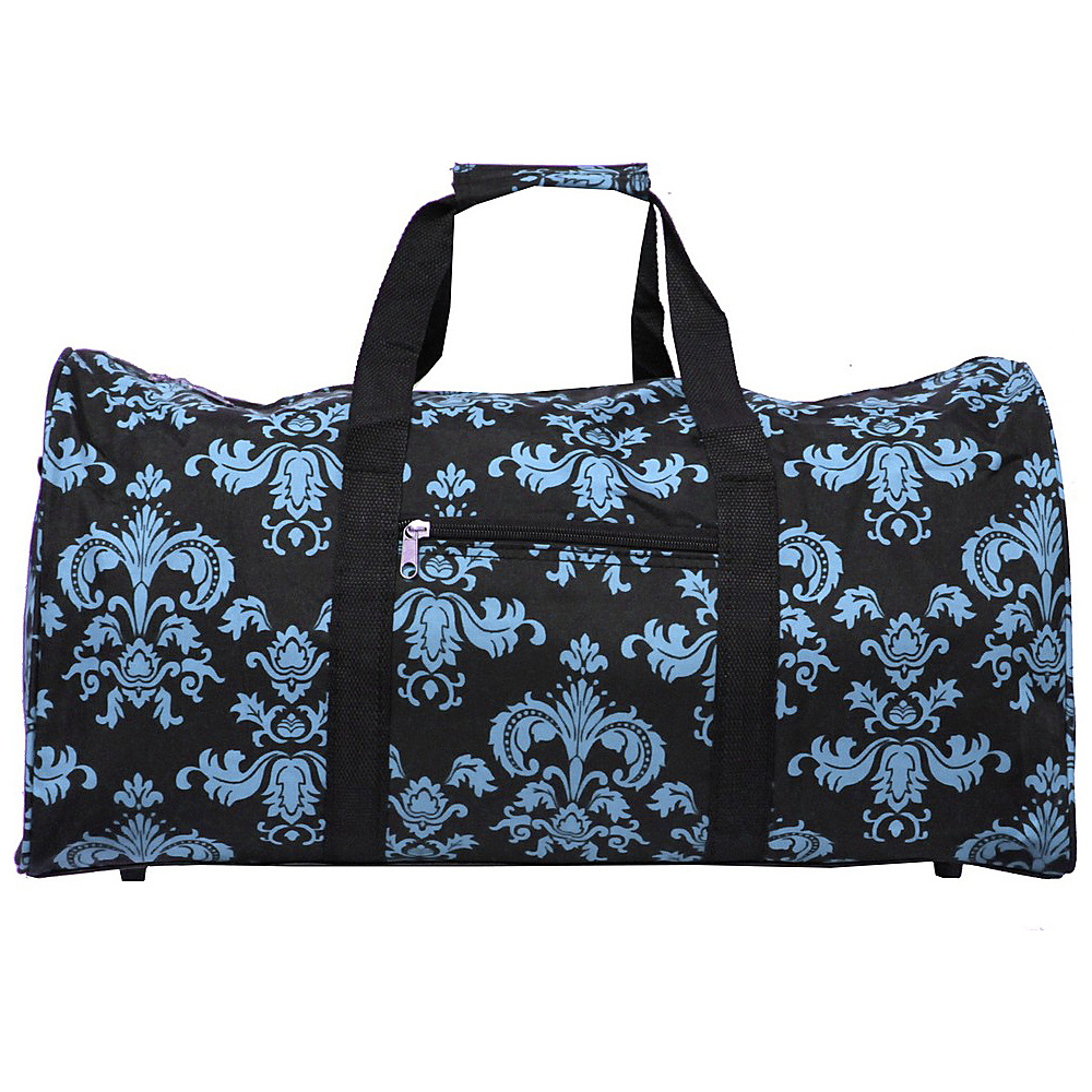 World Traveler Damask ll 22 Lightweight Duffle Bag Black Blue Damask ll World Traveler Rolling Duffels