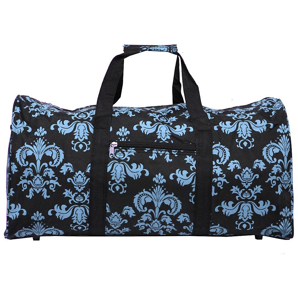 World Traveler Damask ll 22 Lightweight Duffle Bag Black Blue Damask ll - World Traveler Rolling Duffels - Luggage, Rolling Duffels