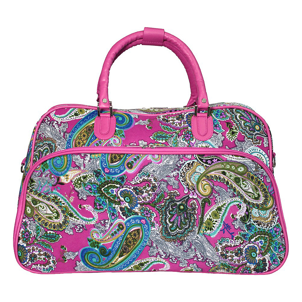 World Traveler Multi Paisley 21 Carry-On Duffel Bag Pink Trim Multi Paisley - World Traveler Rolling Duffels - Luggage, Rolling Duffels