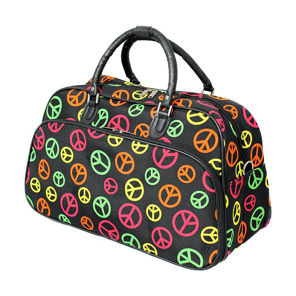 World Traveler Peace Sign 21 Carry-On Duffel Bag Multi Peace Sign - World Traveler Rolling Duffels - Luggage, Rolling Duffels