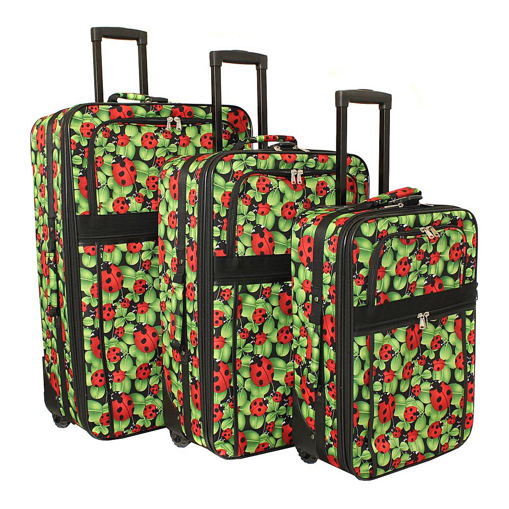 World Traveler LadyBug 3-Piece Expandable Upright Luggage Set Ladybug - World Traveler Luggage Sets - Luggage, Luggage Sets