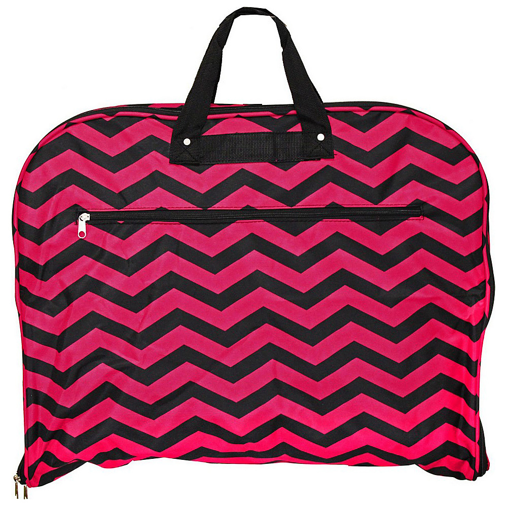 World Traveler Chevron 40 Hanging Garment Bag Fuchsia Black Chevron - World Traveler Garment Bags - Luggage, Garment Bags
