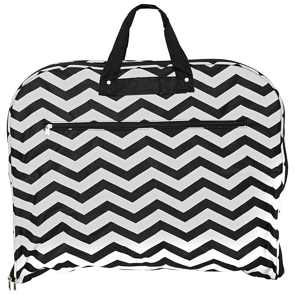 World Traveler Chevron 40 Hanging Garment Bag Black White Chevron - World Traveler Garment Bags - Luggage, Garment Bags