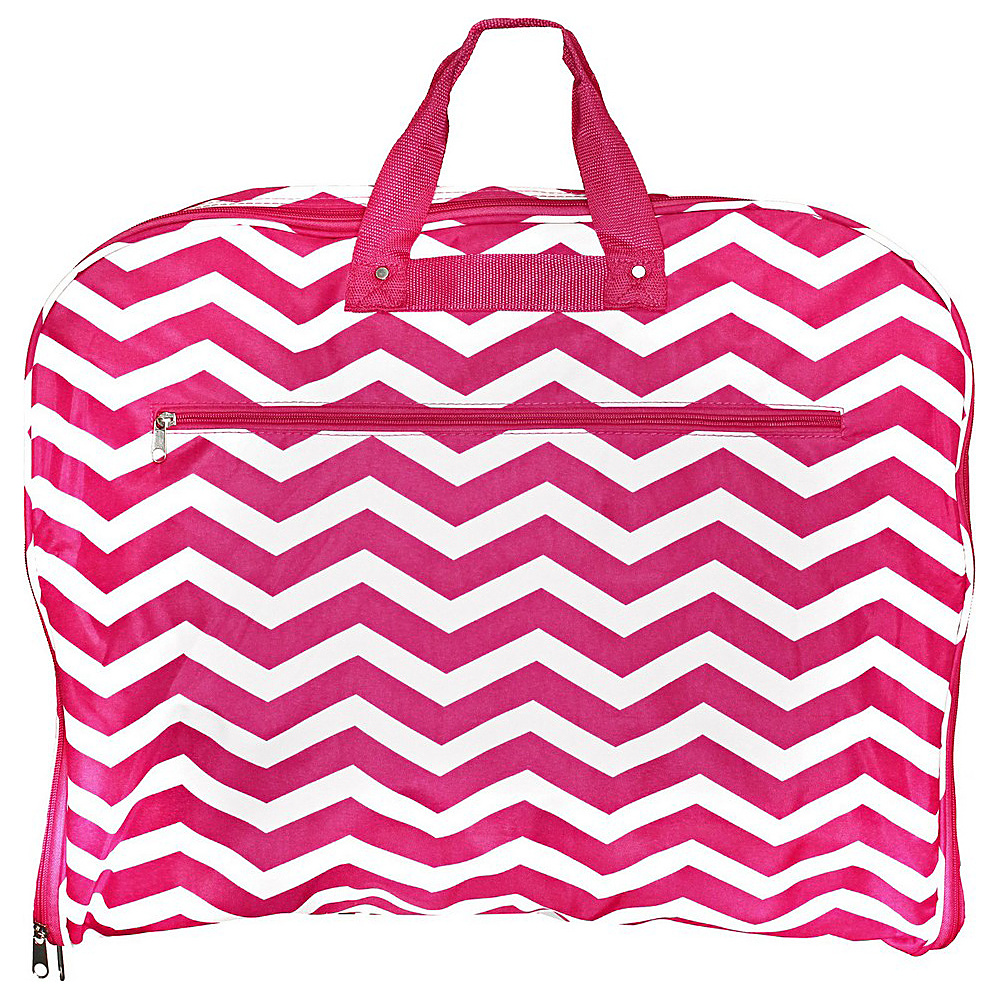 World Traveler Chevron 40 Hanging Garment Bag Fuchsia White Chevron - World Traveler Garment Bags - Luggage, Garment Bags