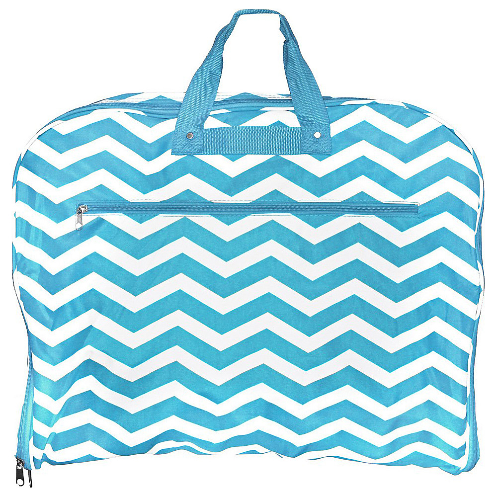 World Traveler Chevron 40 Hanging Garment Bag Blue White Chevron - World Traveler Garment Bags - Luggage, Garment Bags
