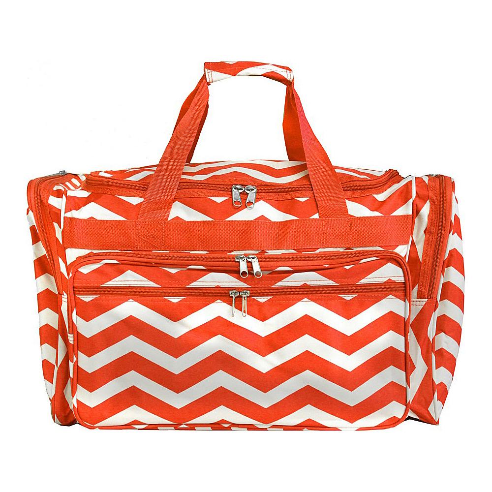 World Traveler Chevron 22 Travel Duffle Bag Orange White Chevron - World Traveler Rolling Duffels - Luggage, Rolling Duffels