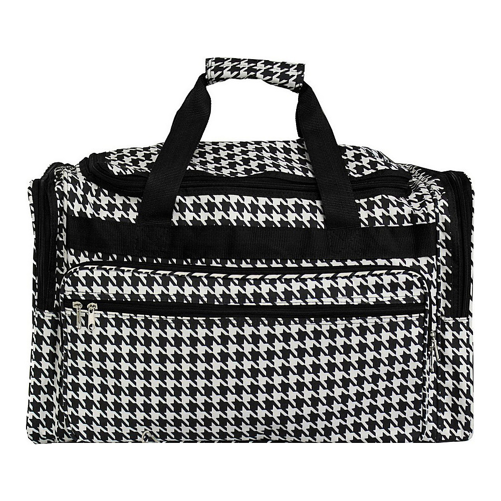 World Traveler Houndstooth 22 Travel Duffle Bag Black Trim Houndstooth - World Traveler Rolling Duffels - Luggage, Rolling Duffels