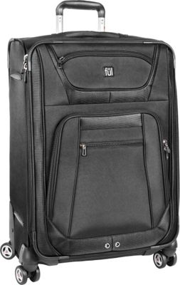 ful Sequential Series 24 inch Upright Spinner Black - ful Softside Checked