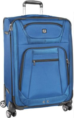 ful Sequential Series 24 inch Upright Spinner Luggage Cobalt - ful Softside Checked