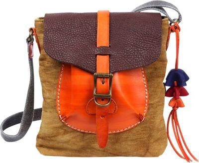 TSD Moss Wood Crossbody Khaki - TSD Fabric Handbags