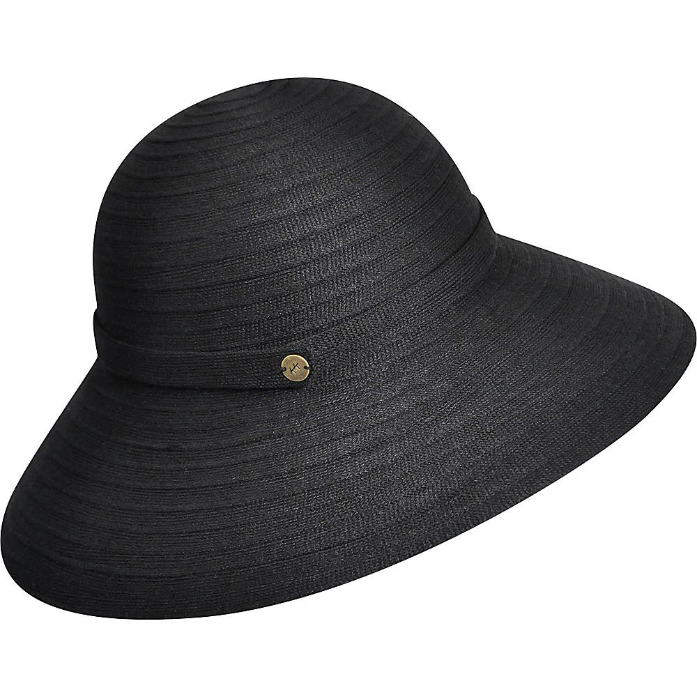 Karen Kane Hats Lux Braid Wide Brim Floppy Hat Black Karen Kane Hats Hats Gloves Scarves