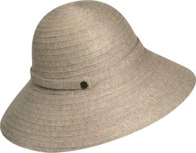 Karen Kane Hats Lux Braid Wide Brim Floppy Hat Taupe Heather - Karen Kane Hats Hats/Gloves/Scarves