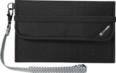 Pacsafe RFIDsafe V250 Anti-Theft RFID Blocking Travel Wallet Black - Pacsafe Travel Wallets