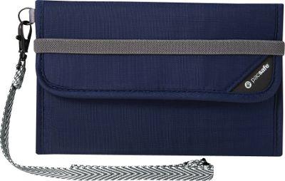 Pacsafe RFIDsafe V250 Anti-Theft RFID Blocking Travel Wallet Navy Blue - Pacsafe Travel Wallets