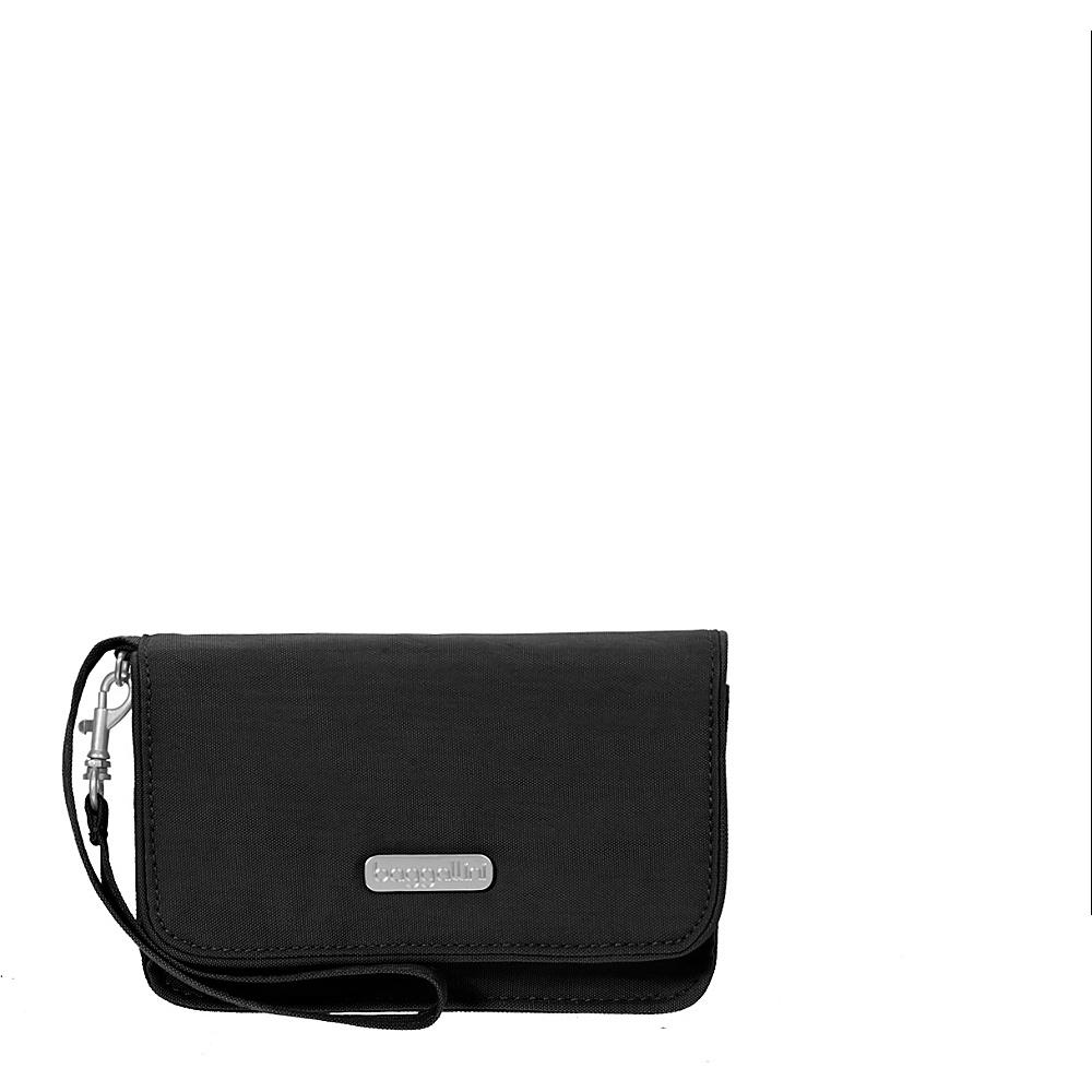baggallini RFID Flap Wristlet Black/Sand - baggallini Fabric Handbags - Handbags, Fabric Handbags
