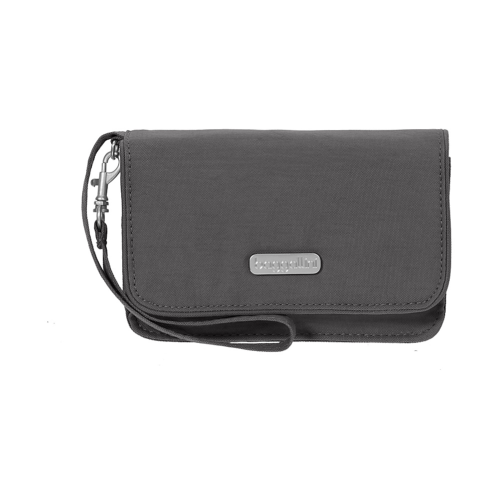baggallini RFID Flap Wristlet Charcoal - baggallini Fabric Handbags - Handbags, Fabric Handbags