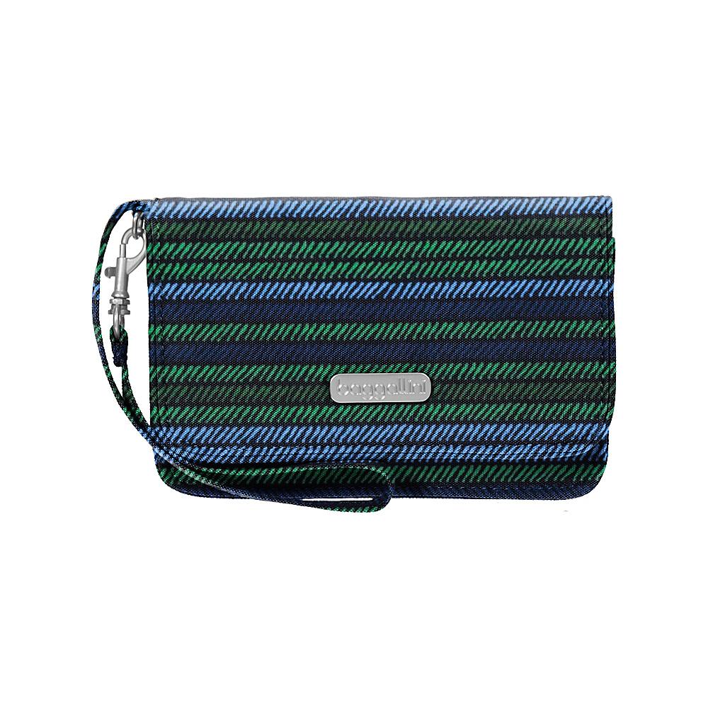 baggallini RFID Flap Wristlet Moss Stripe - baggallini Fabric Handbags - Handbags, Fabric Handbags