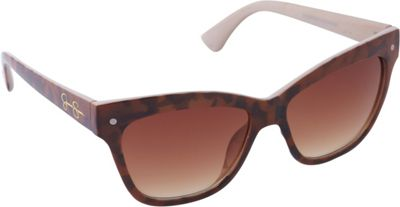 Jessica Simpson Sunwear Animal Print Cat Eye Sunglasses Animal Cream - Jessica Simpson Sunwear Sunglasses