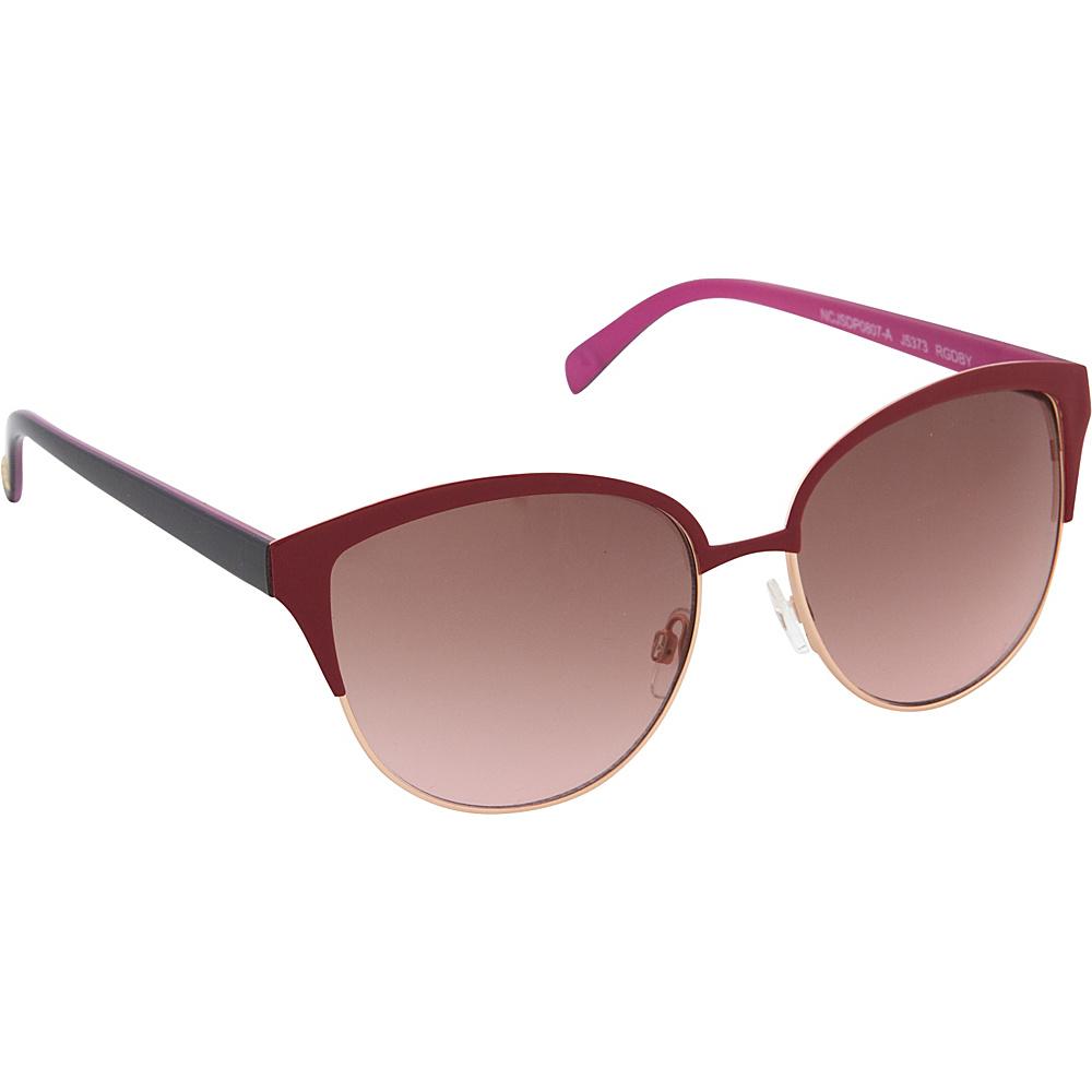 Jessica Simpson Sunwear Cat Eye Sunglasses Rose Gold Berry - Jessica Simpson Sunwear Sunglasses