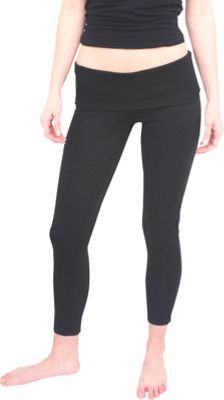 Magid Full Length Flap Over Yoga Pants L/XL - Black/Black - Magid Women's Apparel