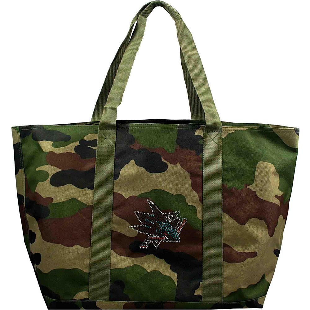 Littlearth Camo Tote - NHL Teams San Jose Sharks - Littlearth Fabric Handbags - Handbags, Fabric Handbags